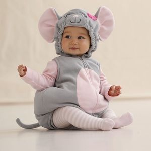 12m Carter's 3 piece mouse Halloween costume